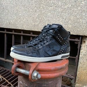 Converse leather studded high top sneaker